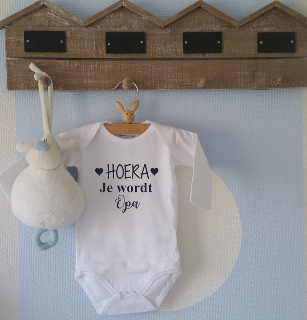 Beste Rompertje zwangerschaps aankondiging Hoera je wordt opa GN-42