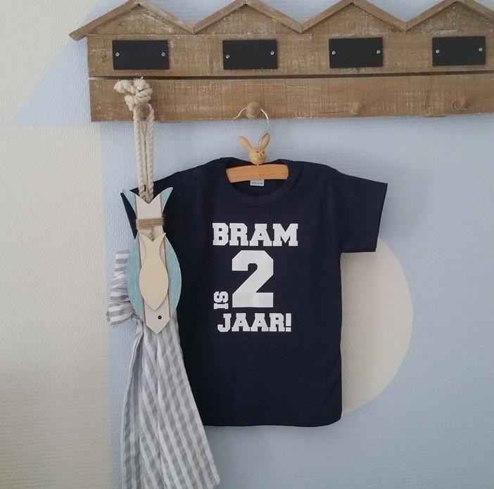 Shirtje Naam Is Jarig Leeftijd Jaar Verjaardagsshirtje 1 2 Baby