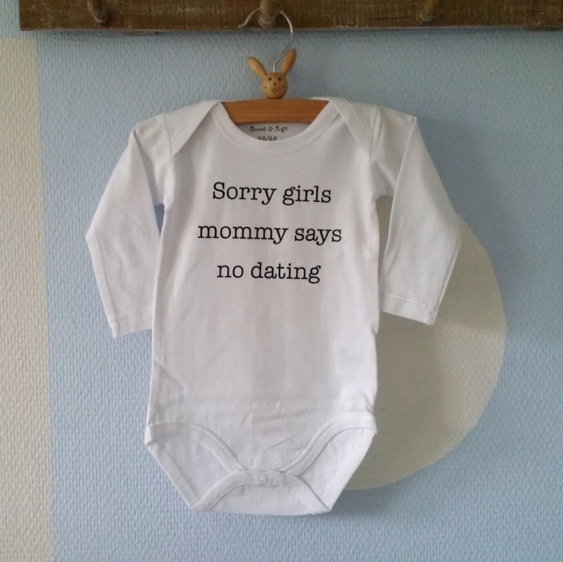 Top Baby rompertjes bedrukken met grappige tekst sorry girls mommy &DH45