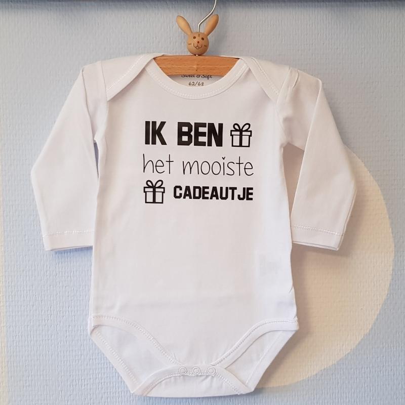 Rompertje Aankondiging Zwangerschap Ik Ben Het Mooiste Cadeautje Kan Met Naam