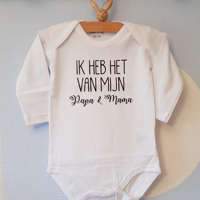 Fabulous Baby rompertjes bedrukken met grappige tekst Ik heb het van mijn &UN73