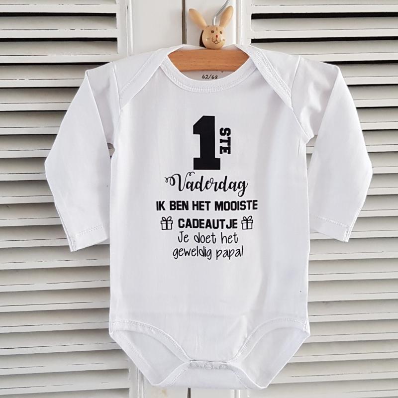 Rompertje 1ste Eerste Vaderdag Ik Ben Het Mooiste Cadeautje Je Doet Het Geweldig Papa