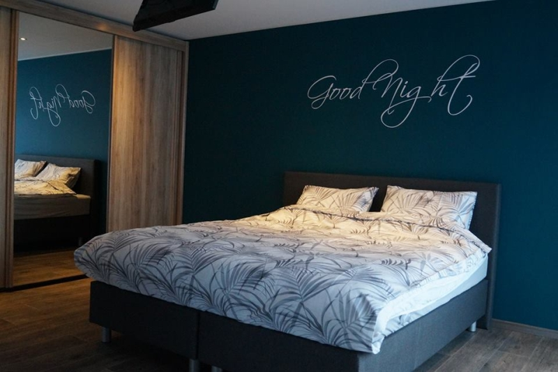 good night woonsticker tekst slaapkamer