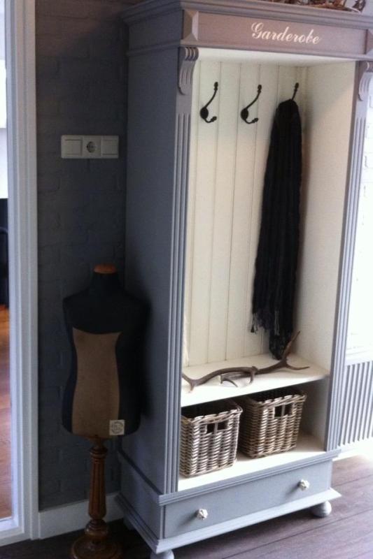 Meubelsticker garderobe garderobekast - Customiser un vestiaire metallique ...