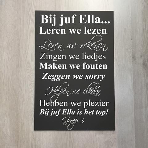 Sticker Bij Juf Leren We Cadeau Namens Klas Afscheid Bedanken