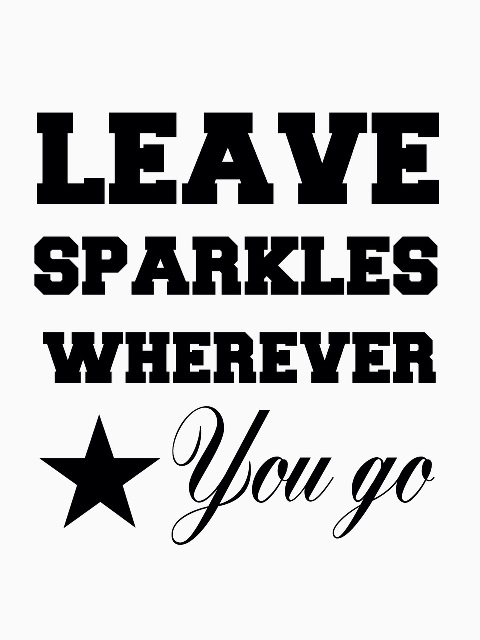 Rompertje naamrompertje leave sparkles wherever you go met naam eronder