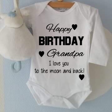 Romper Happy Birthday Grandpa