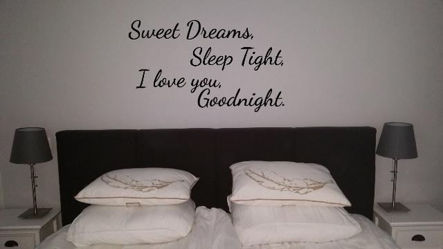 Muurstickers Slaapkamer Love.Muursticker Slaapkamer Sweet Dreams Sleep Tight