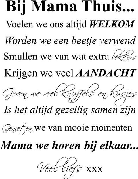 Verjaardags Kleurplaten Voor Mama Regels Bij Mama Thuis Sticker Huisregels Tekstbord Tekst
