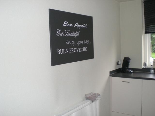 Eet smakelijk verschillende talen stickers muurtekst > geef u huis ...
