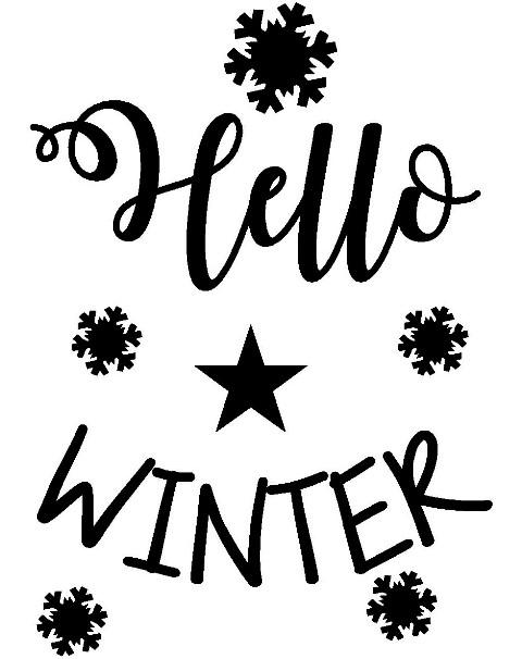 Kussenhoes Hello Winter