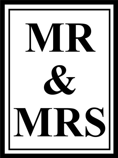 tekst poster mr and mrs mister and misses. Black Bedroom Furniture Sets. Home Design Ideas