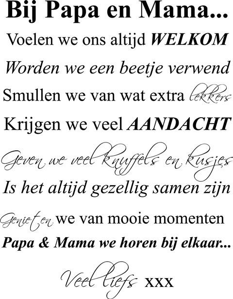 Regels Bij Oma En Of Oma Thuis Sticker Huisregels