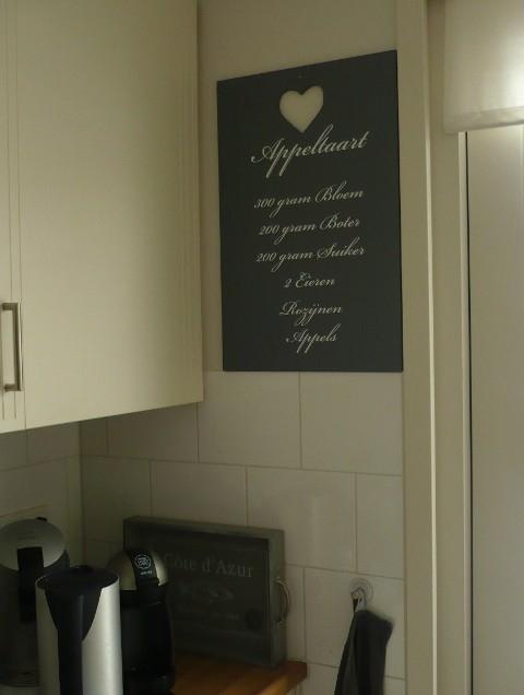 Keuken Decoratie Stickers : Recepten sticker appeltaart vanaf 4,95!