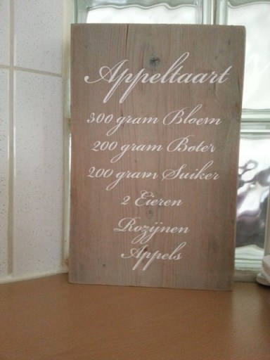 Appeltaart recept sticker