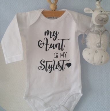 Romper, met, tekst,aunt, is, my, stylist, met, tante