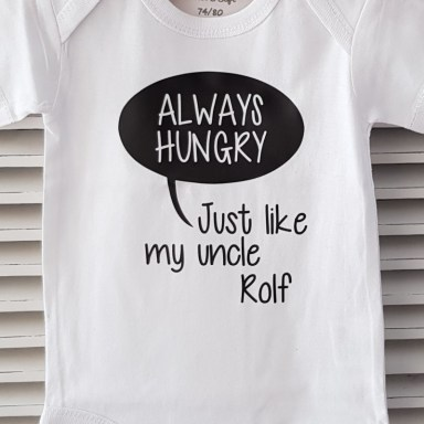 Rompertje met tekst - Always Hungry