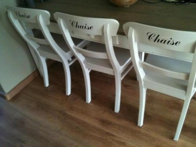 Chaise stickers