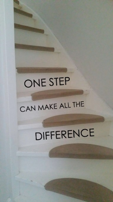 one step can make all the difference trapsticker