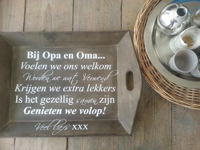 Muurtekst Sticker Ontwerpen : Cadeautip! Bij Opa en Oma huisregels ...