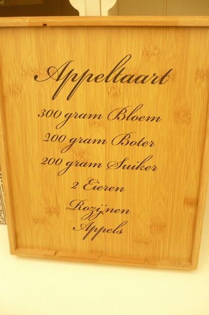Muurteksten Keuken : Recepten sticker appeltaart vanaf 4,95!