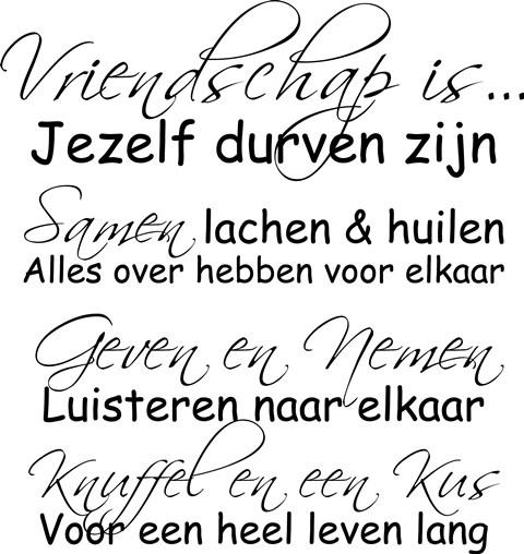 Citaten Over Vriendschap : Poster vriendschap is